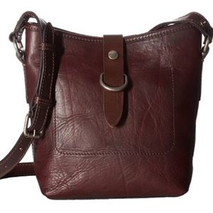 Frye Amy Bucket Bag Crossbody Burgundy Leather NWT